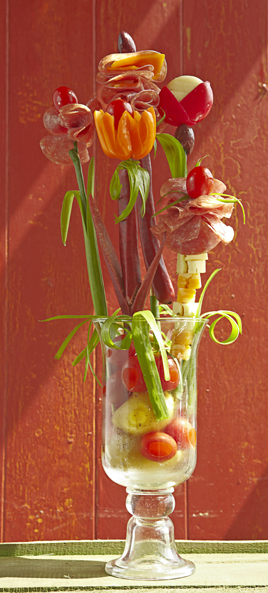meat and cheese bouquet for your man photoappetite