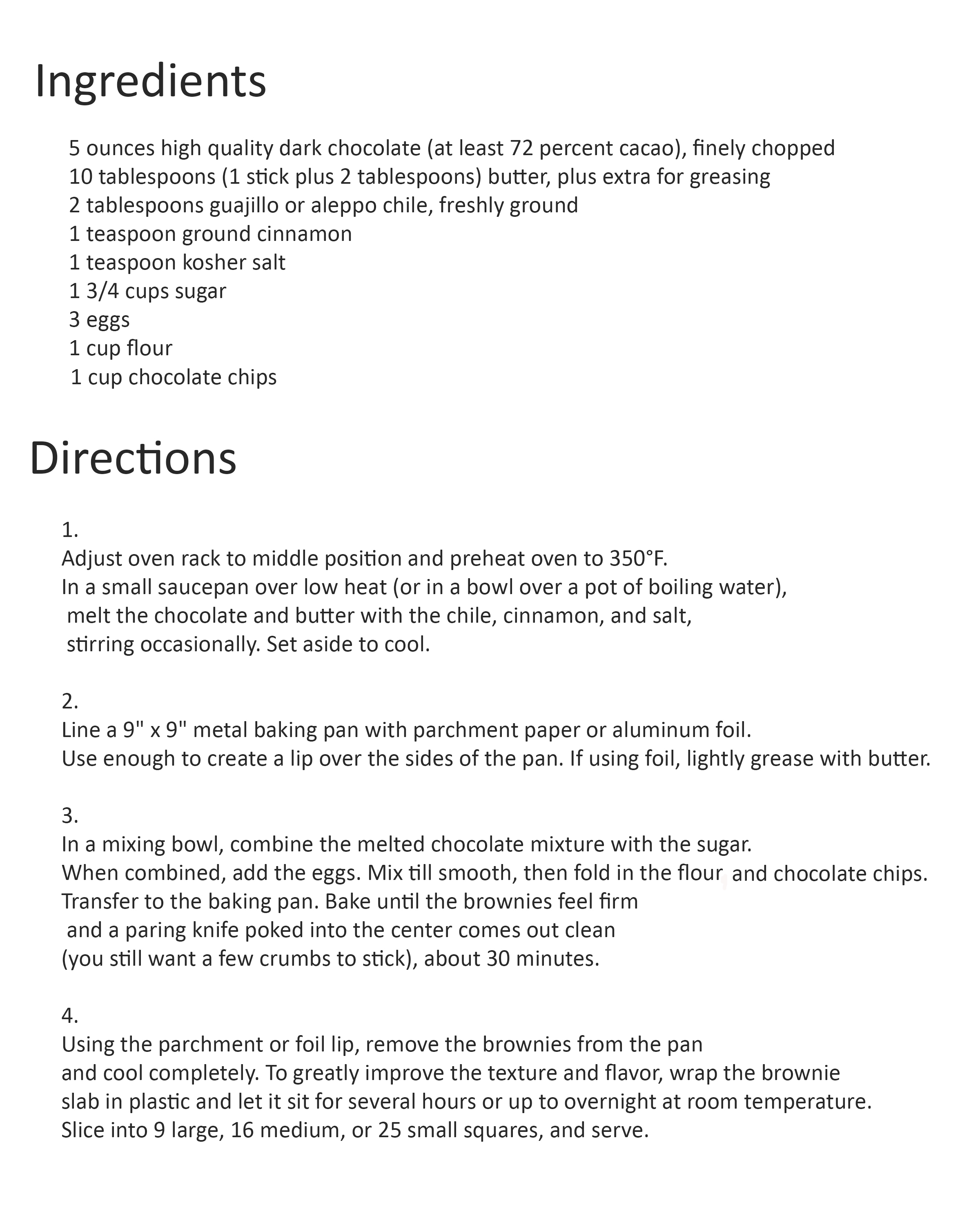 spicy brownie recipe